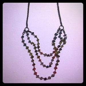 Necklace multi colored crystals